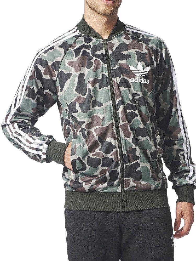 adidas Originals Veste Performance Camouflage Windbreaker Homme Vert Camo