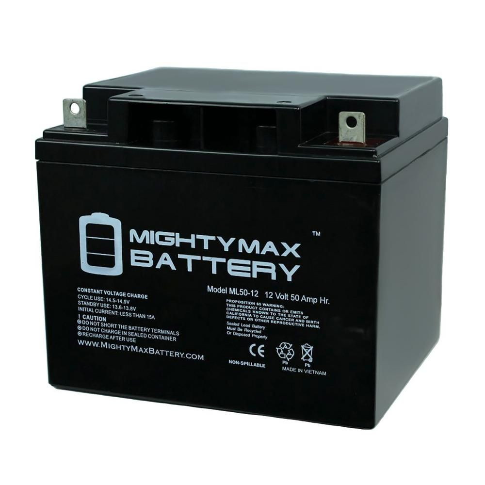 Mighty Max Battery 12 Volt 50 Ah Rechargeable Sealed Lead Acid Sla Battery In 2019 Products Mighty Max Ups Power Battery Sizes