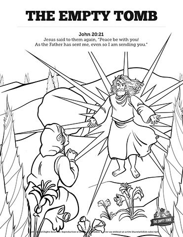 John 20 The Empty Tomb Sunday School Coloring Pages Scho