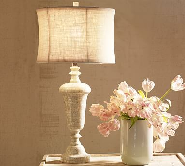 Jolie mother of pearl table lamp base potterybarn furniture jolie mother of pearl table lamp base potterybarn aloadofball Images