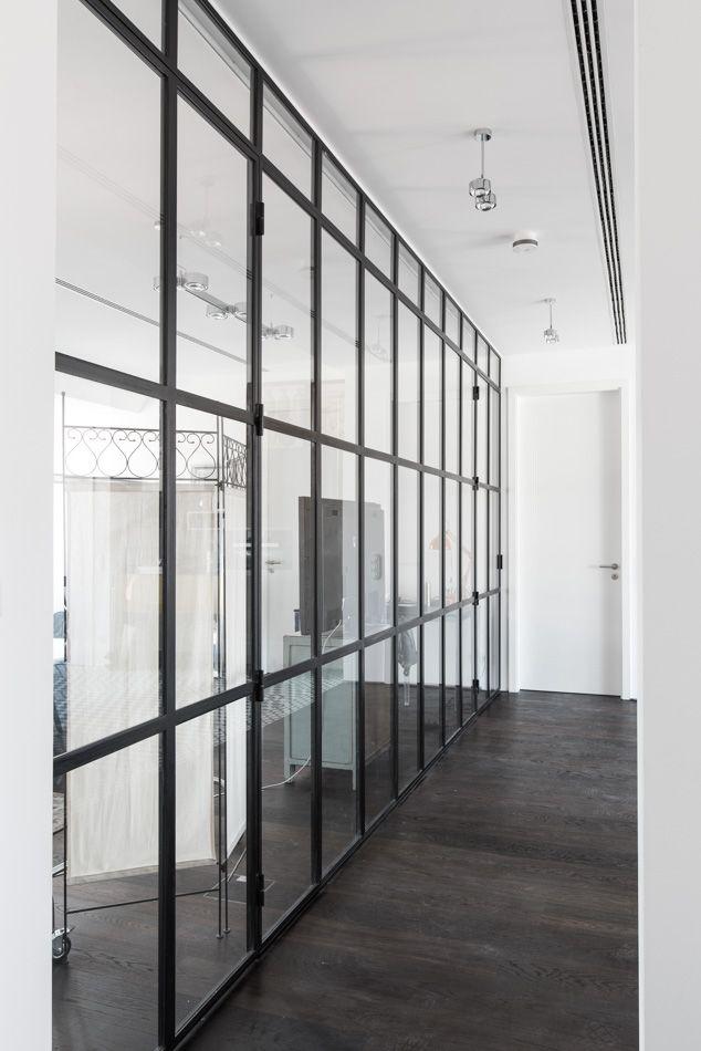 Stahlwerks Schlosserei bietet Entwurf und Fertigung von Stahl - wohnzimmer mit glaswnde