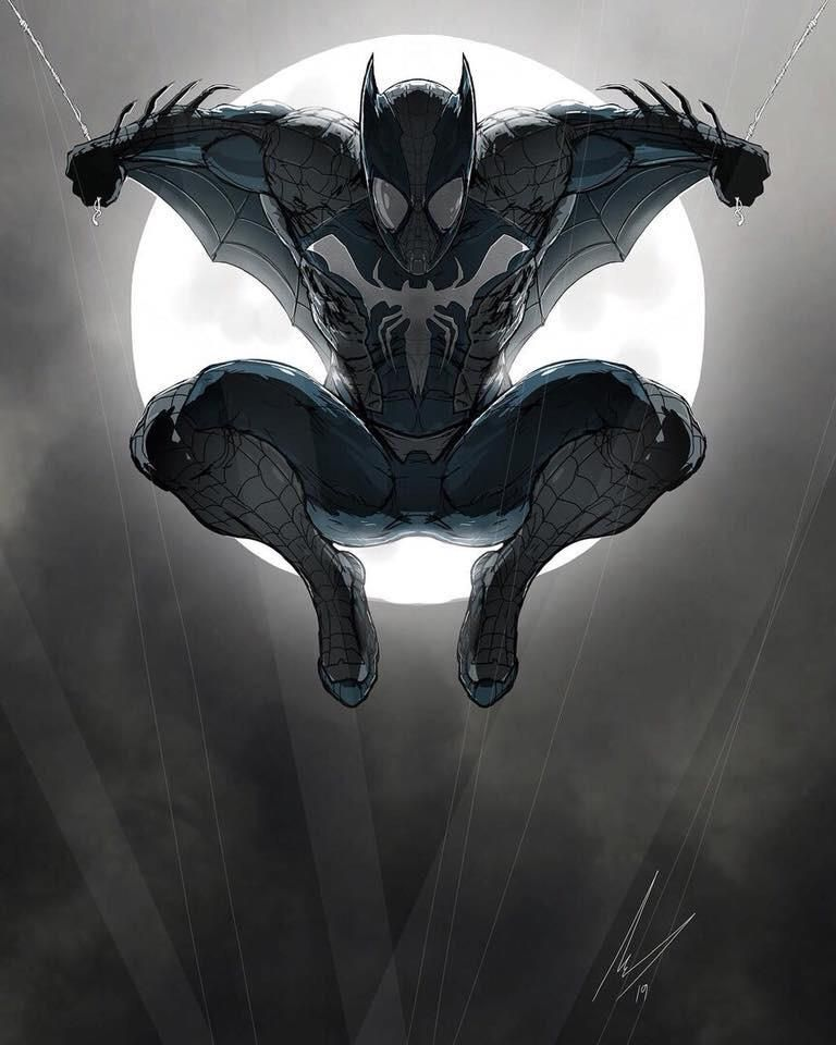 Reddit Batman Spider Bat By Mj Hiblen Batman Spiderman Spiderman Art Superhero Art