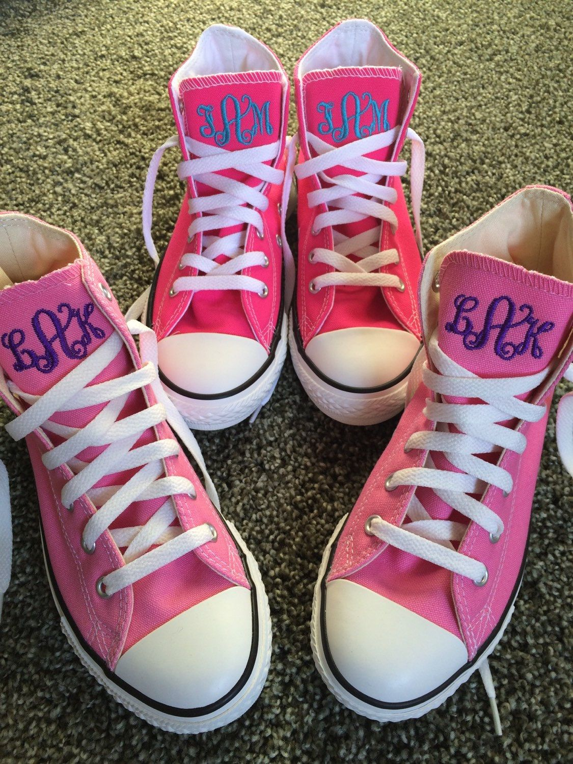 Childrens Converse Embroidered Monogrammed Hitop Converse Sneakers