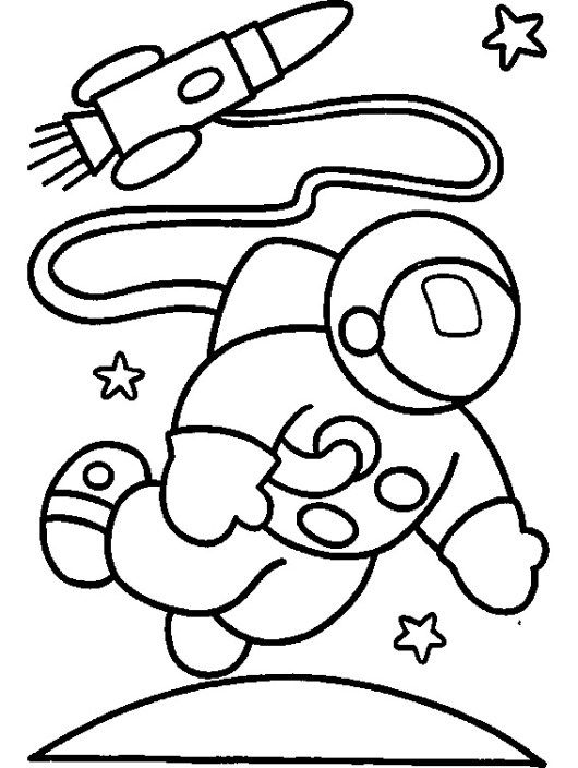 Astronaut And Rocket Coloring Printable Page Space Coloring Pages Space Crafts For Kids Coloring Pages