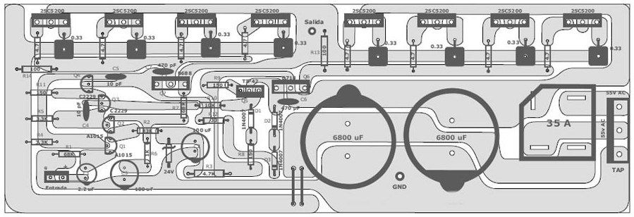400 Wat5t 70 Volt Amplifier Schematic & PCB Layout Design