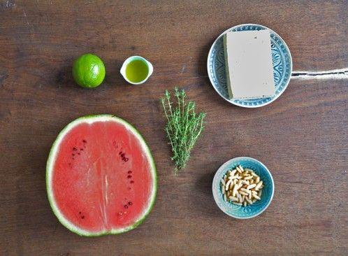 schafskäse melonensalat