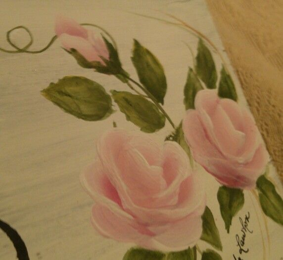 Hand painted roses by Cindy Lawhon