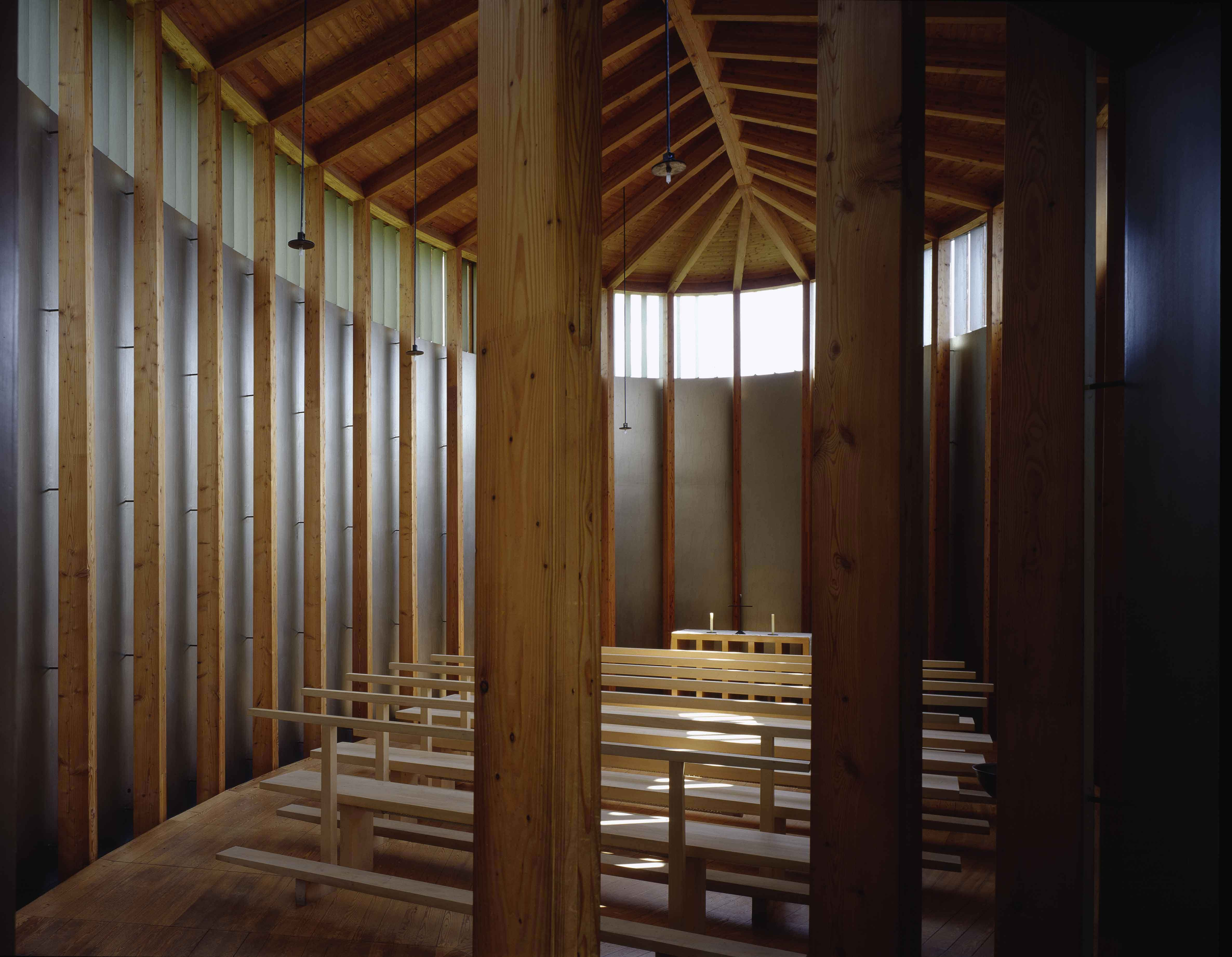 Peter Zumthor, Chapel Peter zumthor, Architecture, Wood