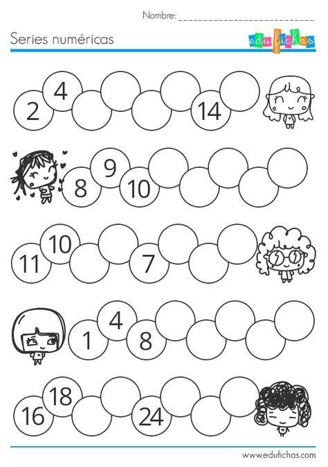 ejercicio series numericas para niños #numeros #matematicas #series ...