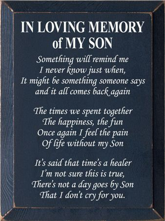 Custom In Loving Memory Of My Son 9x12 My Son Quotes Grief Quotes Child Grieving Quotes