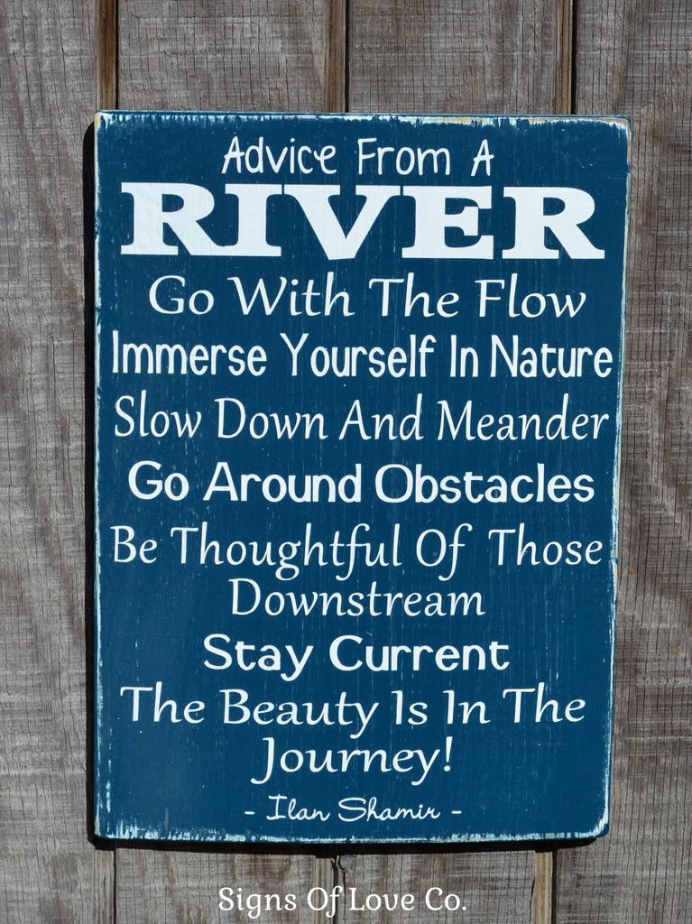 River House Decor Signs Advice From A Painted Rustic Wood Plaque Poem Gifts