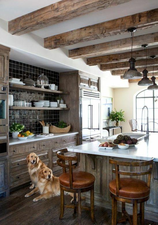 50 moderne Landhausküchen - Küchenplanung und rustikale - küche selber bauen holz