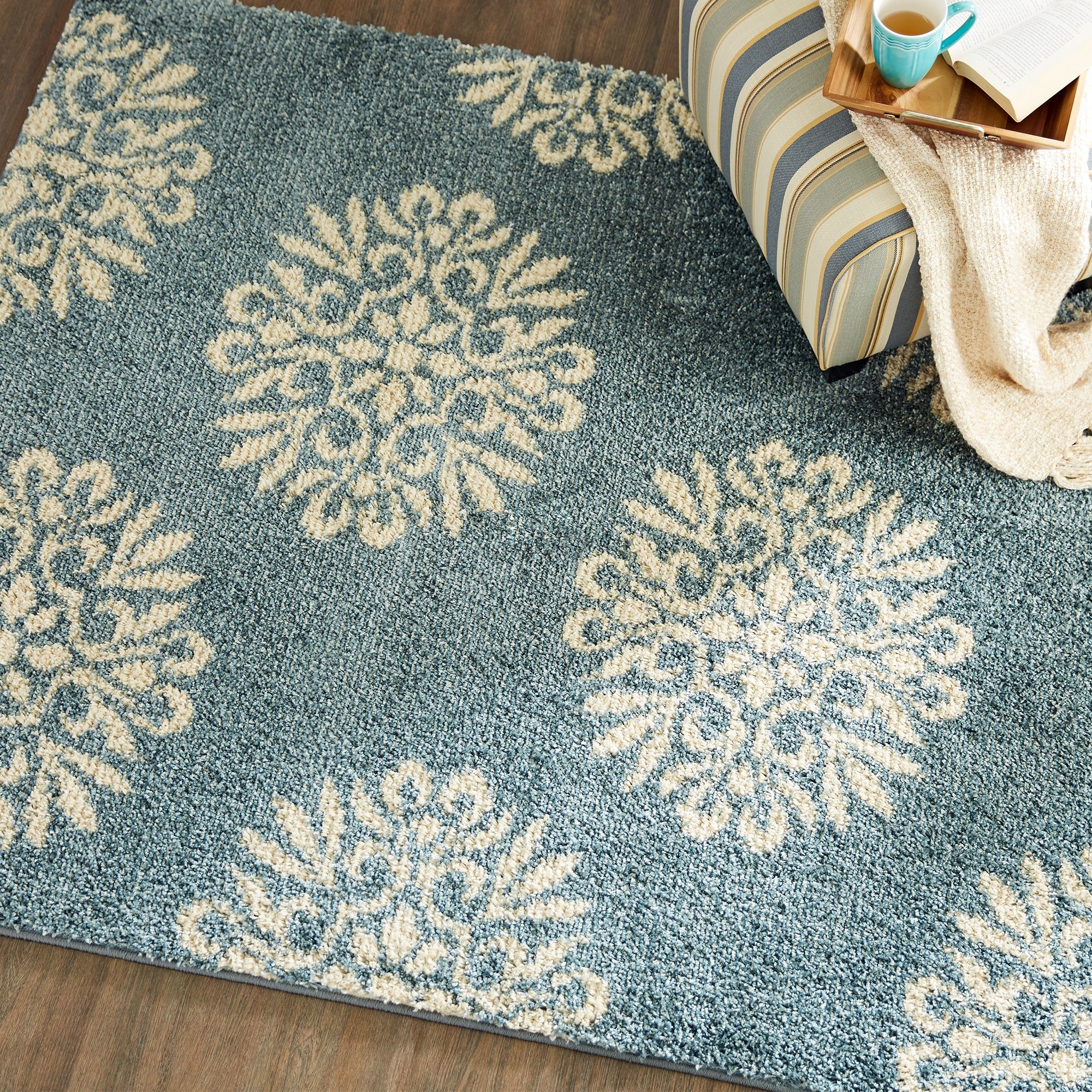 Mohawk Exploded Medallions Bay Blue 5 X 7 Area Rug Ashley Furniture Homestore In 2021 Area Rugs Rugs Comforters Cozy 5 by 7 area rugs
