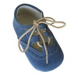63282e53c9810 Inglesito bebé azul jeans. Zapatito bebé serraje. www.donpisoton.com ...