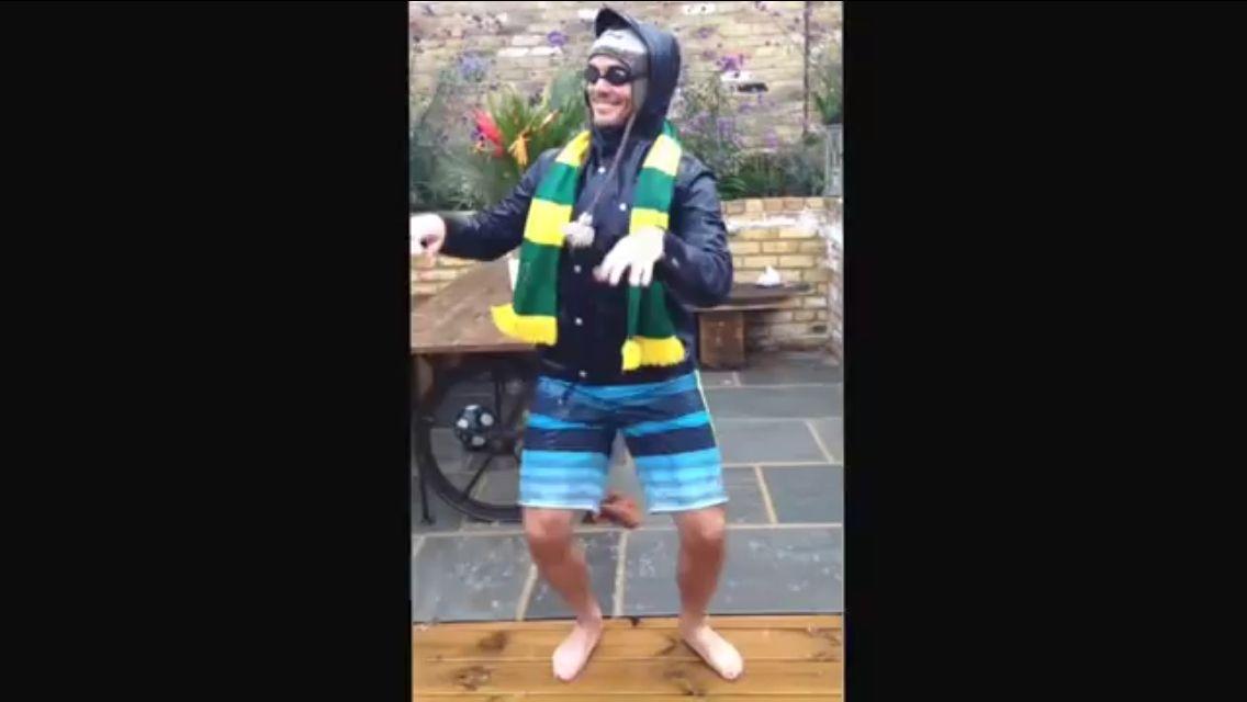 Sam doing Ice Bucket Challenge!
