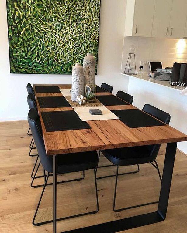 50 Best Modern Dining Room Design Ideas, Industrial Dining Room Table