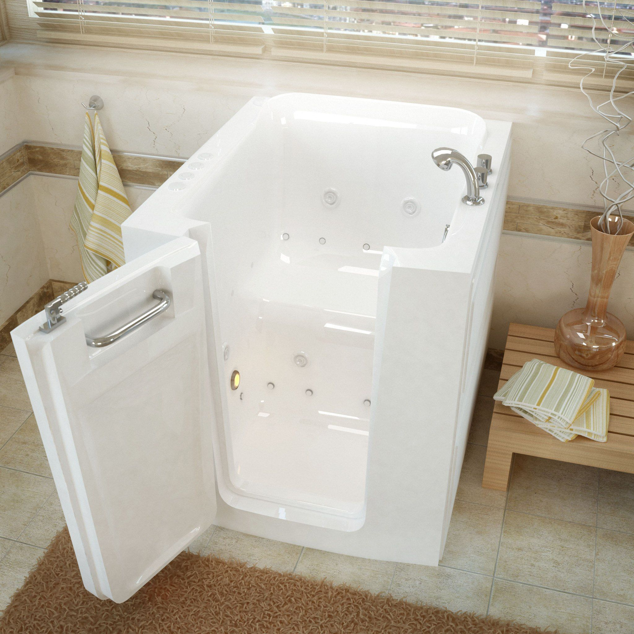 Meditub Walk In 32 X 38 Left Door White Whirlpool Air Jetted