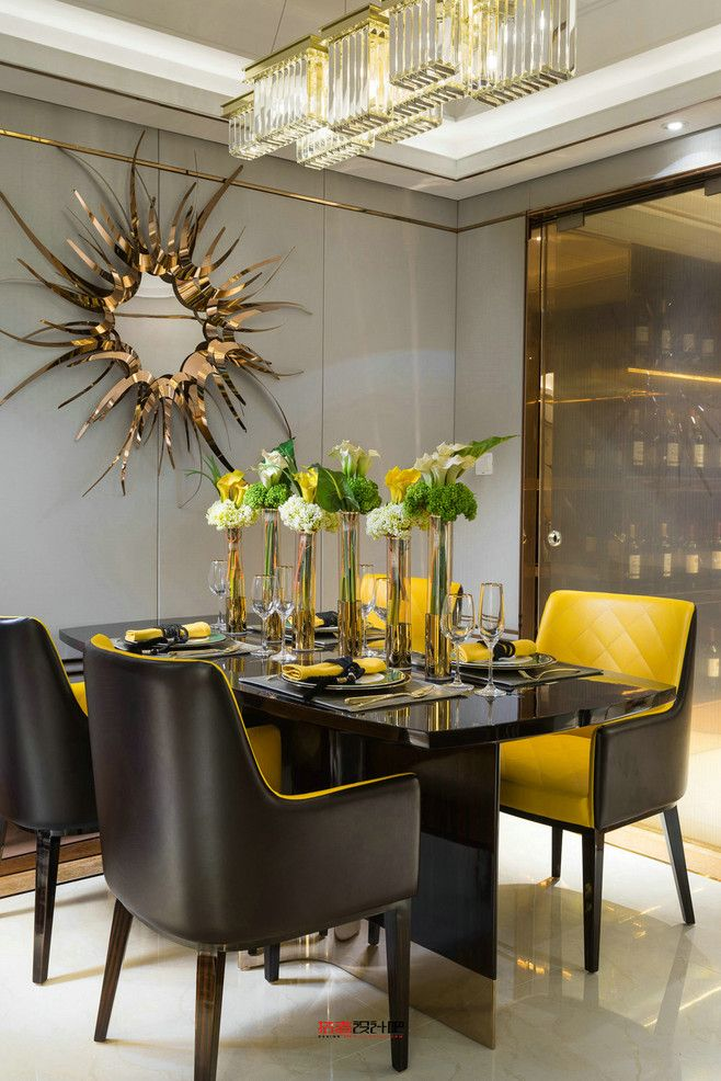 Find The Best Luxury Design Inspirations At Luu Blog Yellow Dining Chairs Black