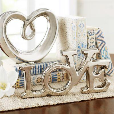 Love Sculpture - Silver