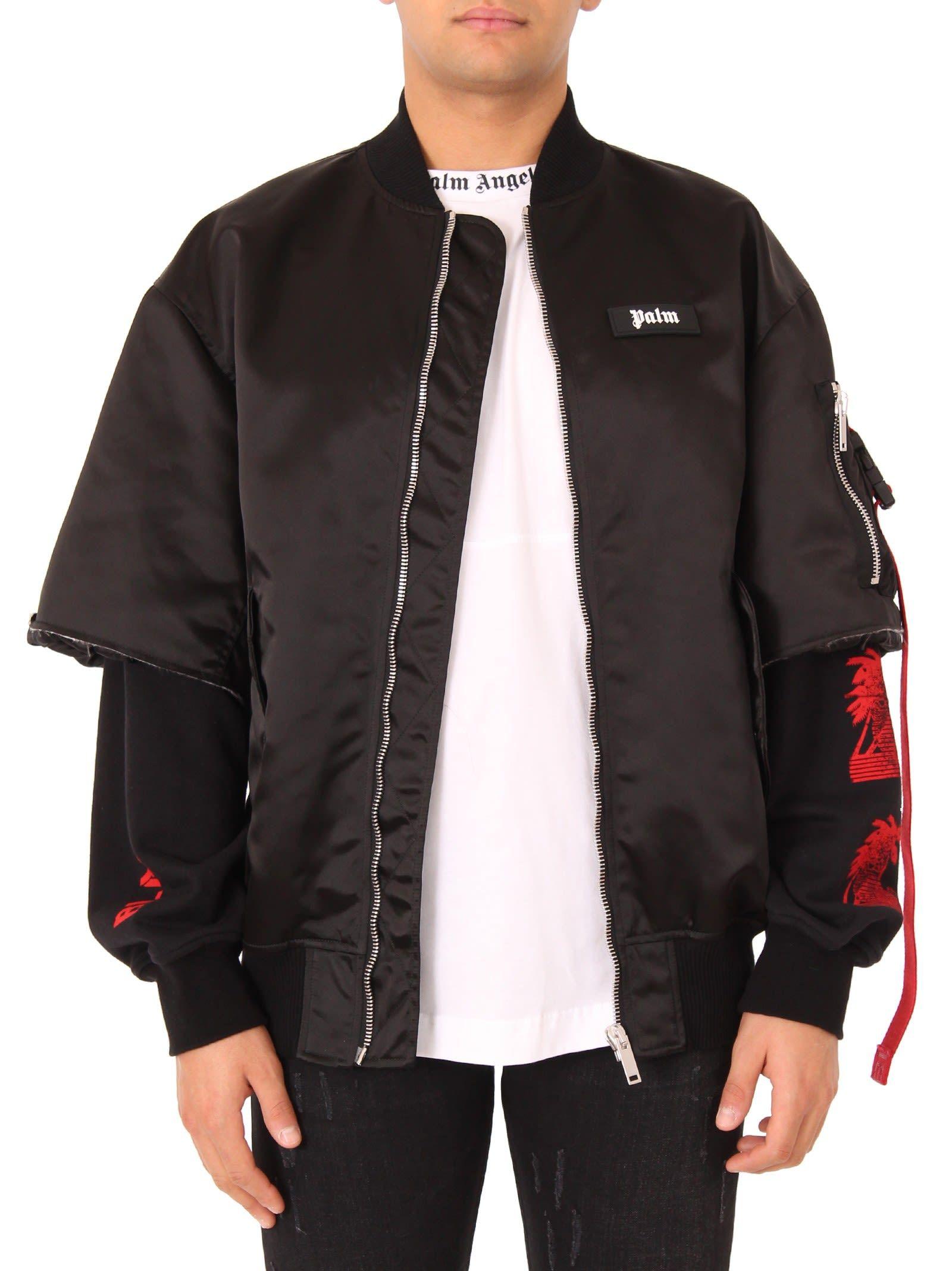 Palm Angels Black Prayer Bomber Jacket Palmangels Cloth Polyester Jacket Bomber Jacket Jackets [ 2136 x 1600 Pixel ]