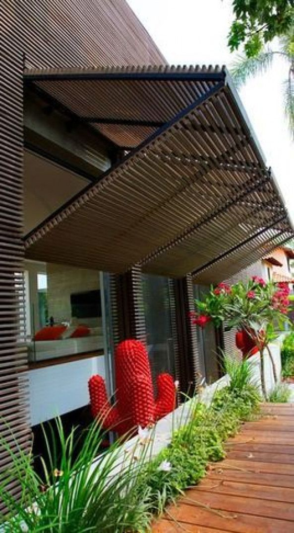 Security Shutter That Can Double As A Overhang Pergola Pergola