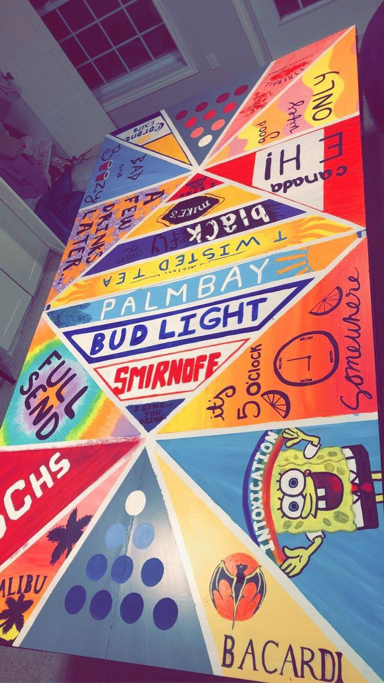 Pong Table Beer Pong Table Painted Beer Pong Table Designs Beer Pong Table Diy