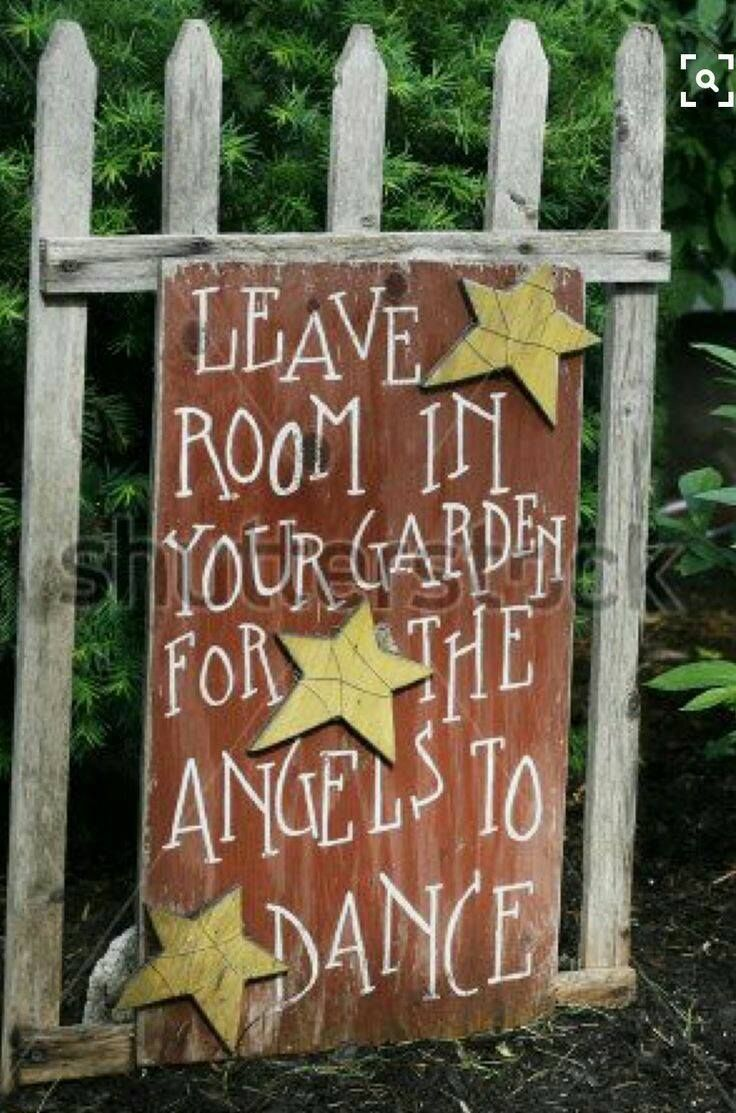 I love Angels Though If like it better if it said Fsiries | Garden ...