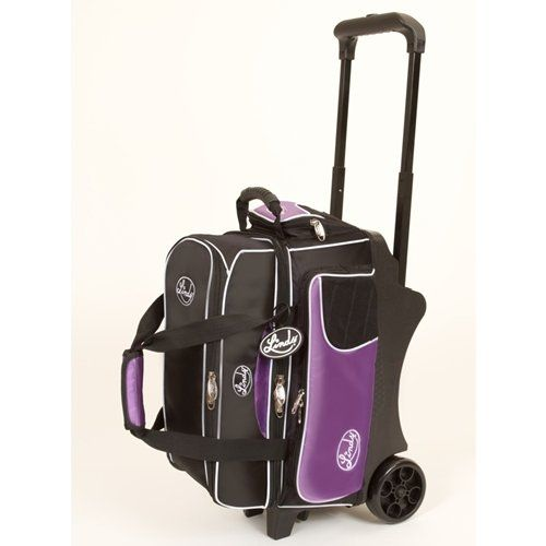 Linds Deluxe 2 Ball Roller Bowling Bag Black Purple Store Break Bowling Bags Bowling Ball Bags Bowling