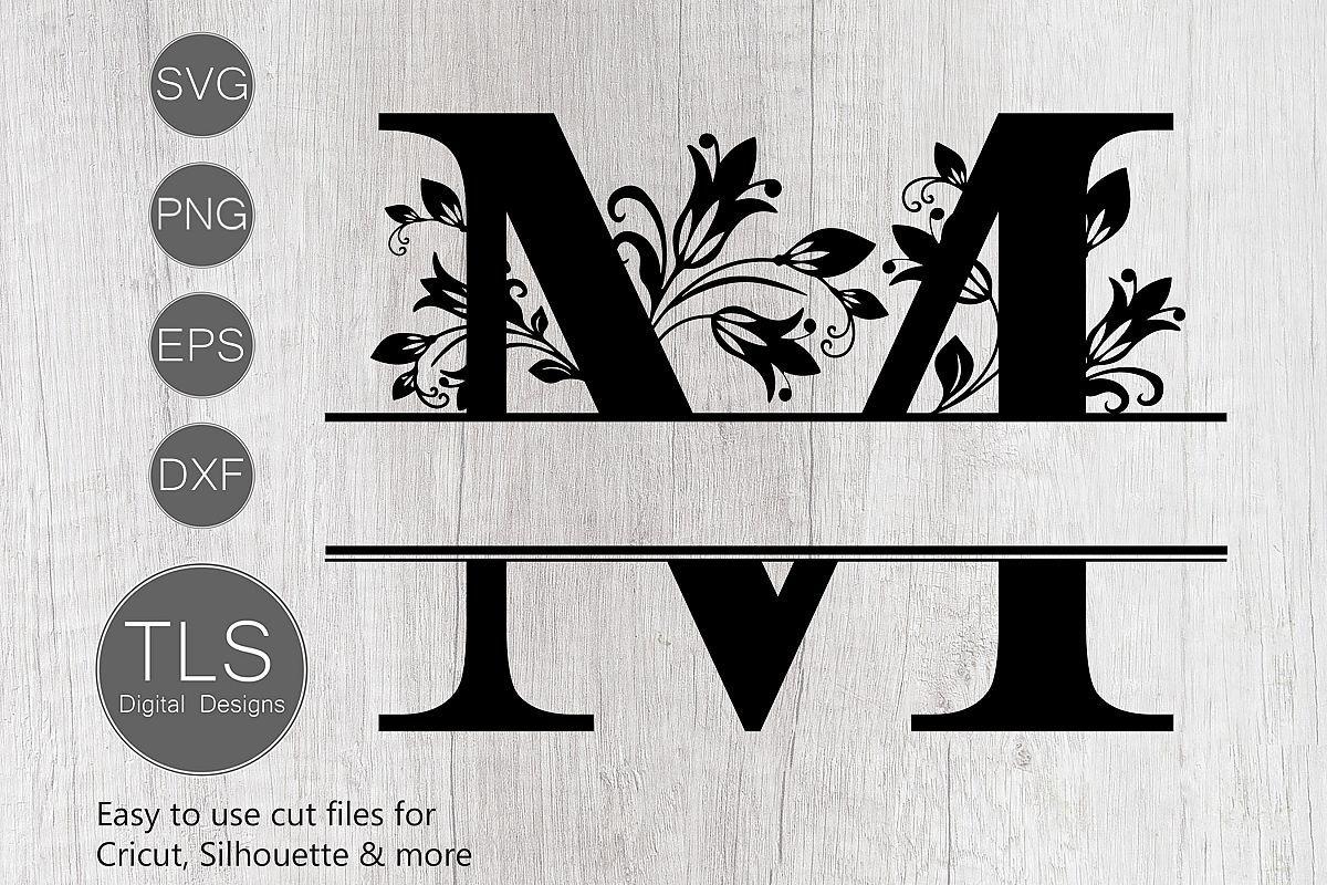 Split Monogram Letter M SVG, Letter M Monogram SVG M