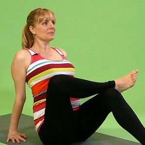 prenatal yoga seated ankletoknee pose  fertility yoga