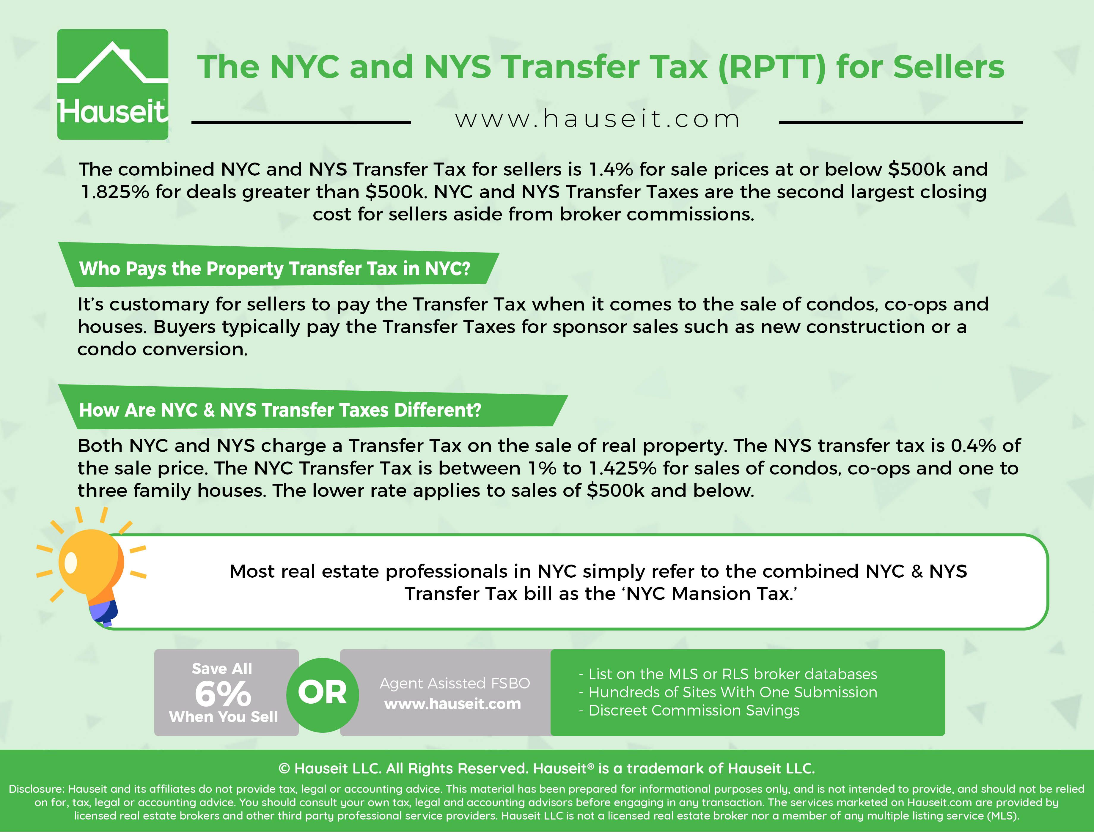 Nyc Nys Transfer Tax Hauseit Nyc Closing Costs Transfer
