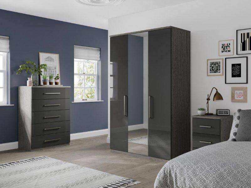 White Bedroom Grey Furniture #homedecorblog