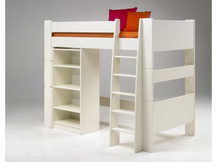 Etagenbett Steens : Steens for kids hochbett mit gerader leiter mdf weiß hochbetten