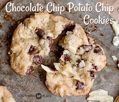 Chocolate Chip Potato Chip Cookies - Southern Plate