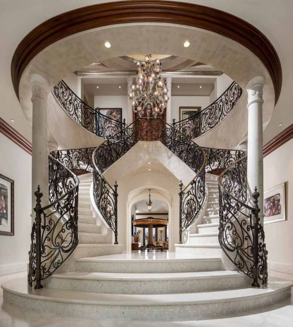 31 Stair Decor Ideas To Make Your Hallway Look Amazing: Amazing Double Staircase Design Ideas With Luxury Look 31