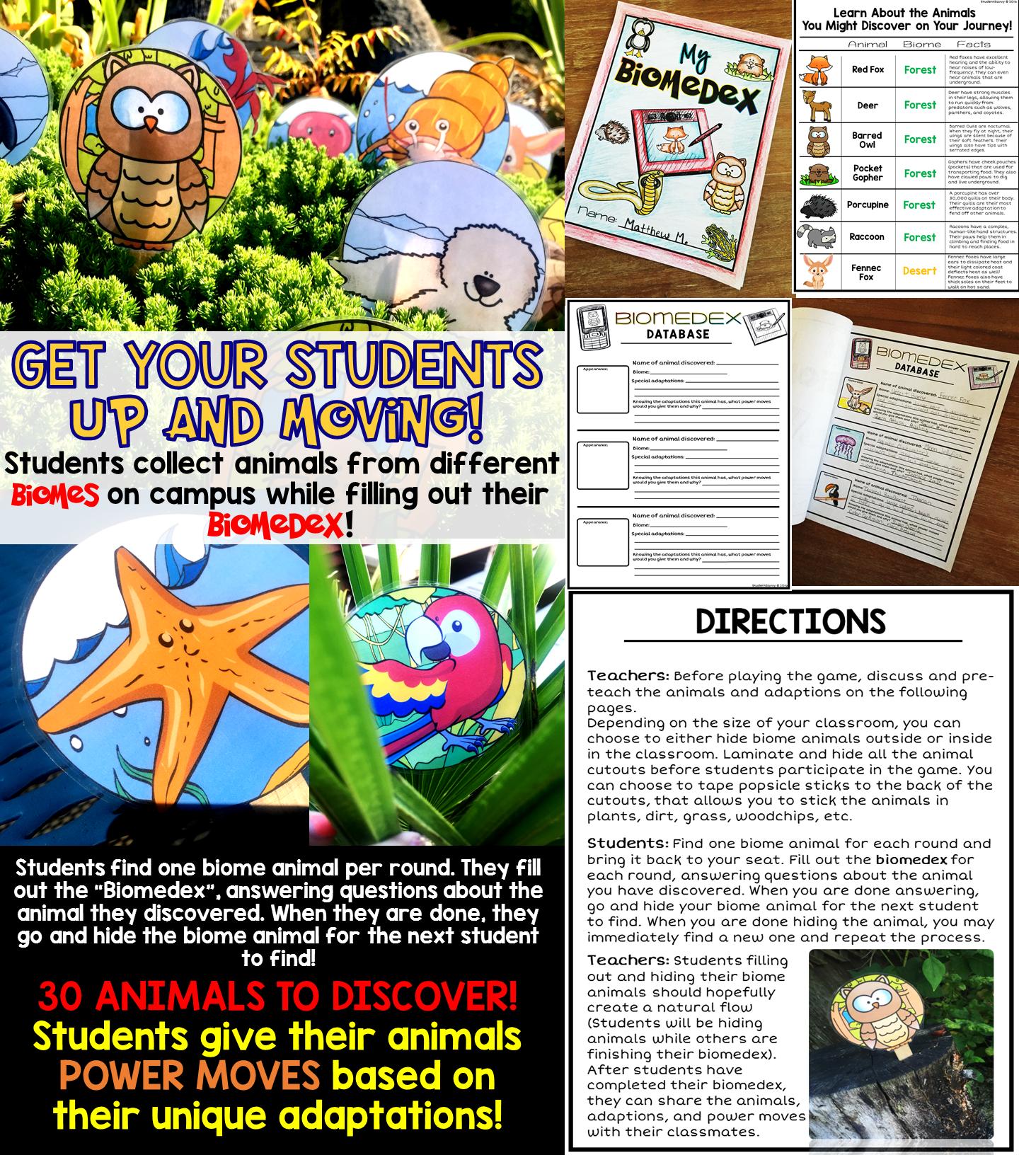 Biome GO Biomes, Animal adaptations, Adaptations