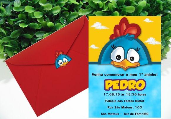 Convite Galinha Pintadinha Incluso convite impresso