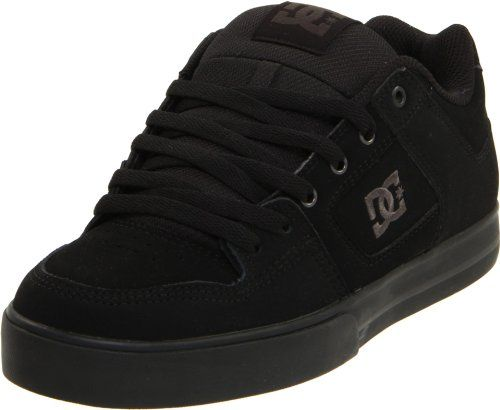 DC Men's Pure Skate Shoe,Black/Pirate Black,12 M US ...