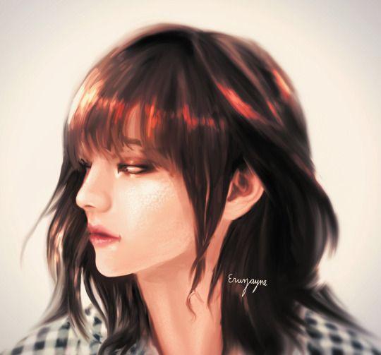 Sweg Art Bts Girl Taehyung Bts Fanart