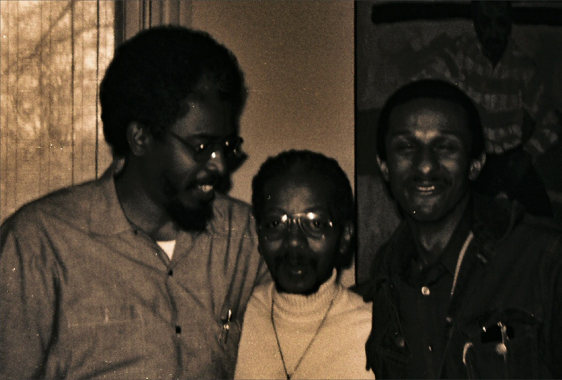 uncle ted .. Ted Jones on the right .. not sure who's in the middle.