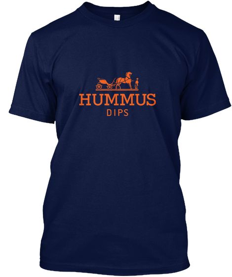62dca96e Hummus Vegan Hermes Novelty Shirt Black Navy T-Shirt Front | Epic ...