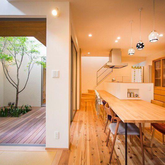 うん いい感じ 中庭 中庭のある家 インテリア 注文住宅 木の家
