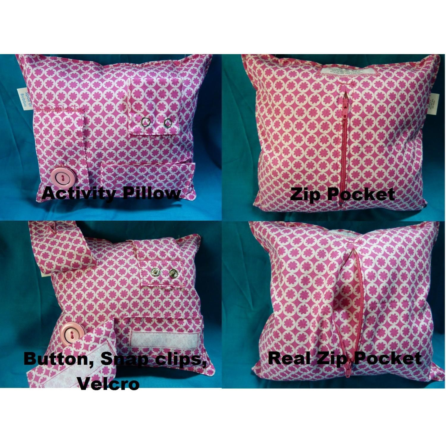 if you can sew a throw pillow pretty easy to add zippers buttons snaps