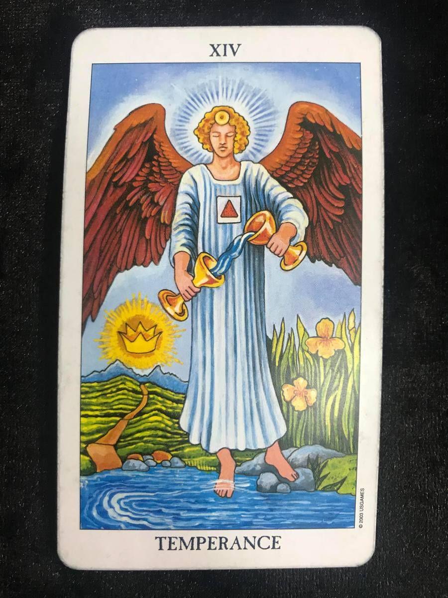 Qq的塔羅日記 7 2 節制牌 正位 自己看牌的感覺 一切都在掌握之中 可以把身邊所有的事情調節得好 甚至有更好的發展 心情平靜的 在工作 生活 人際 愛情之間取得和諧自在今日發生的事 Tarot Card Meanings Temperance Tarot Temperance Tarot Card