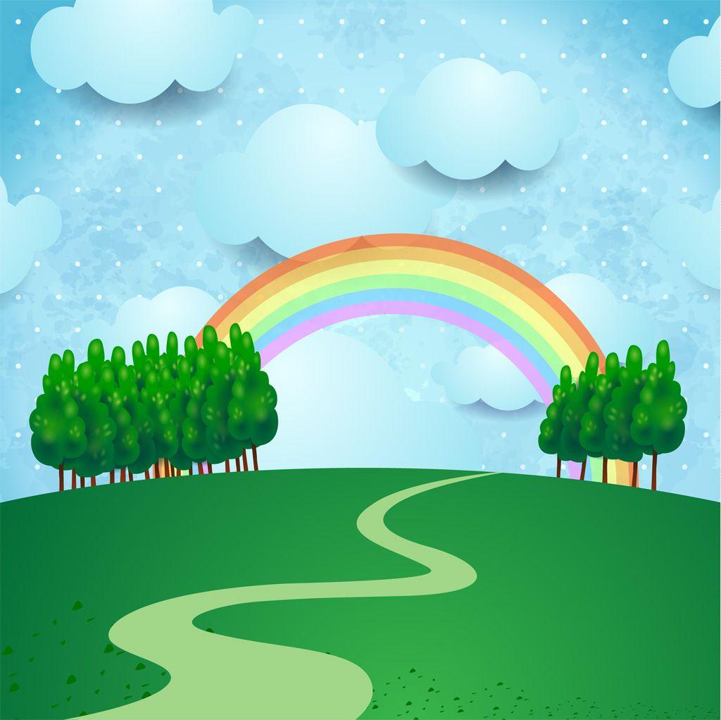 虹 Gatagフリーイラスト素材集 קליפארט ילדים Rainbow