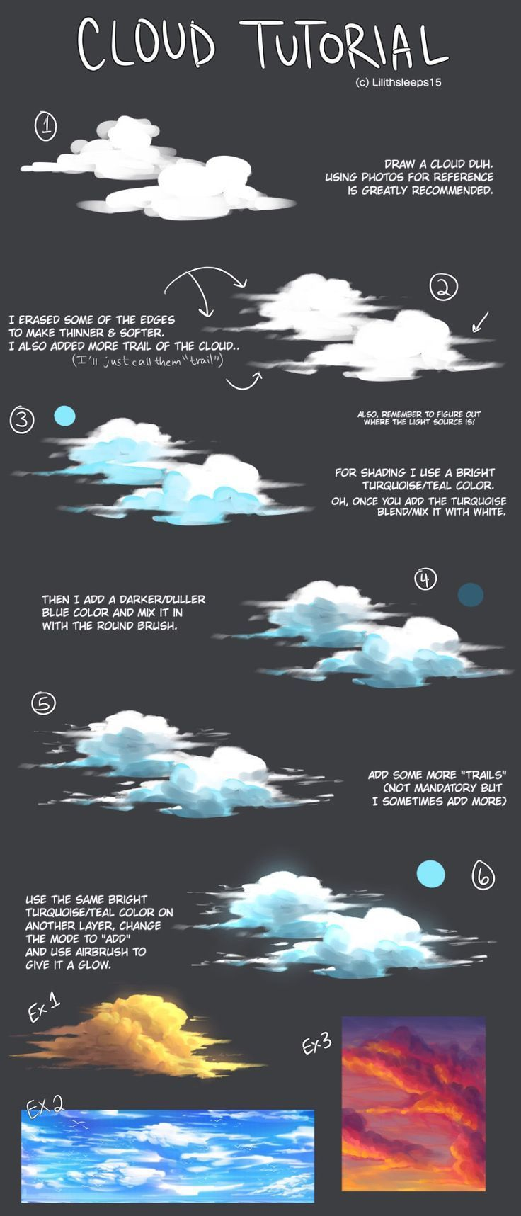 Photo of Cloud tutorial by lilithsleeps on tumblr