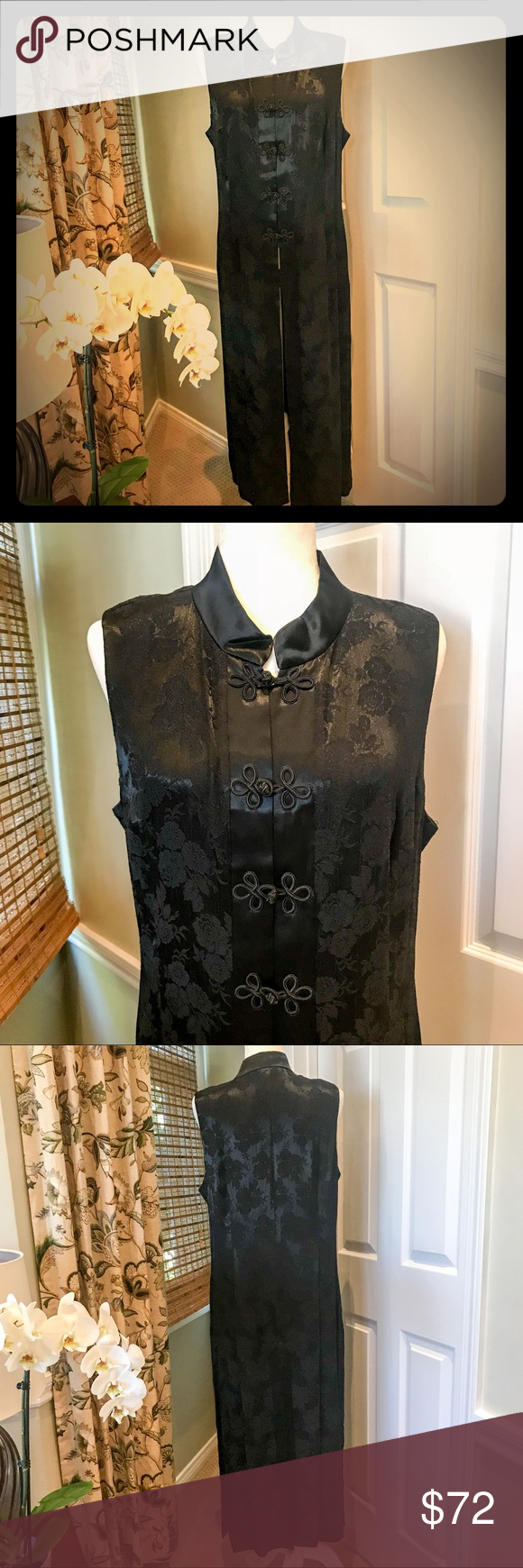 Long mandarin collar duster vest by alchemy duster vest mandarin