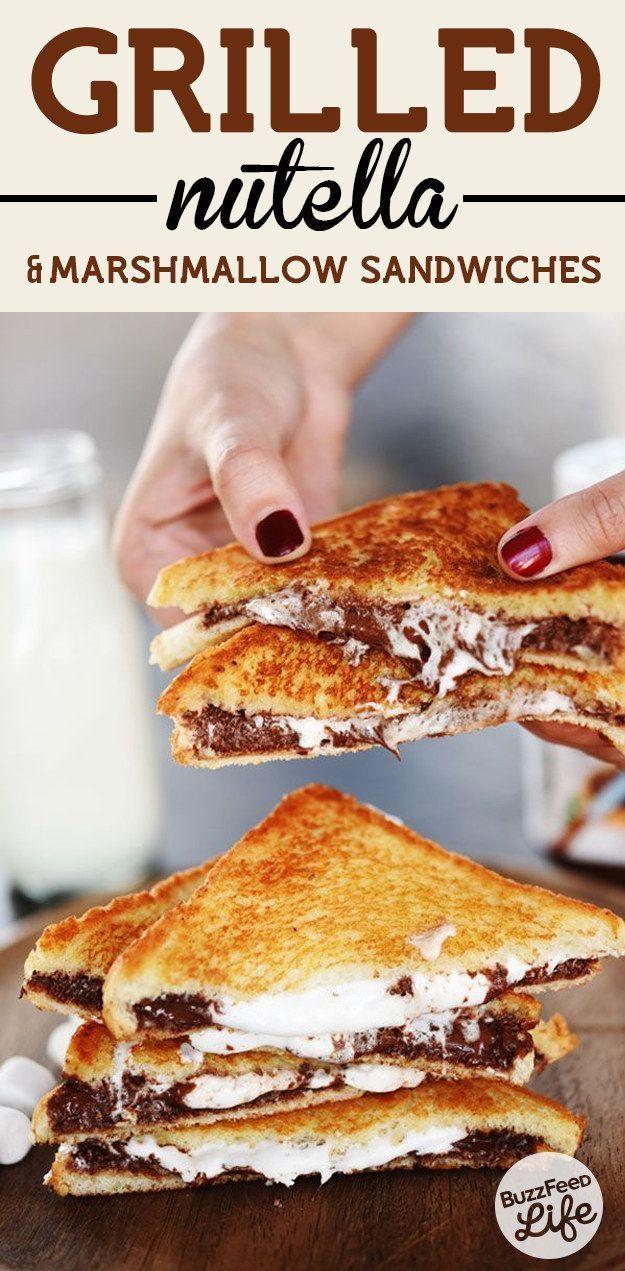 3. Gegrillte Nutella-Marshmallow-Sandwiches #marshmallows