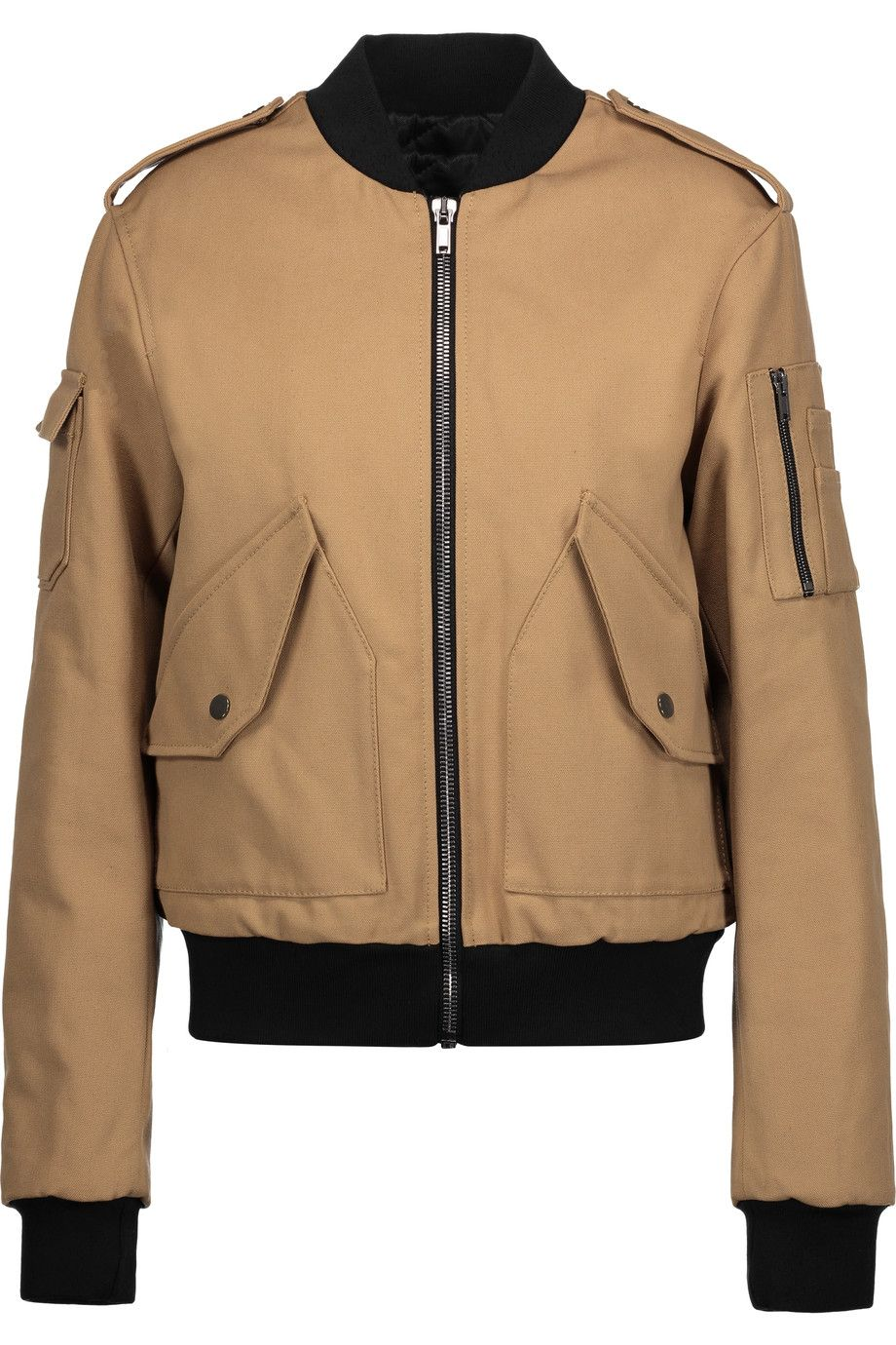 Msgm Cotton Canvas Bomber Jacket Msgm Cloth Jacket Bomber Jacket Jackets Clothes Design [ 1380 x 920 Pixel ]