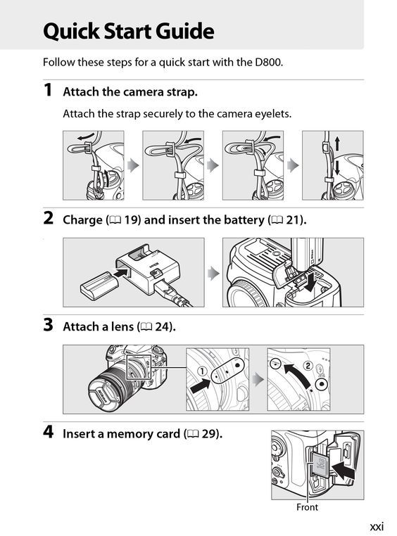 D800 camera quick start guide Manual de Usuario Pinterest - operation manual